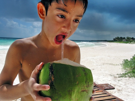 "Rafe Totengco ""Abe Drinking from a Coconut"""