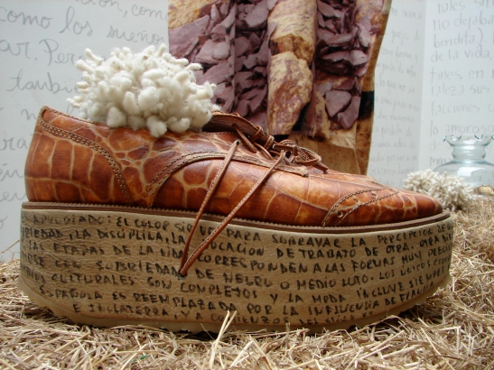 Runway shoe used as decoration