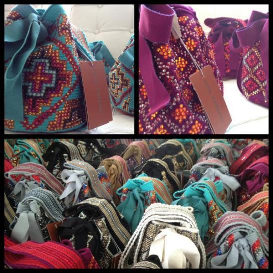 Producción de mochilas Silvia Tcherassi